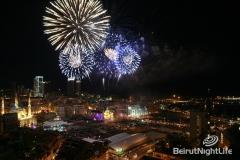 Downtown Beirut Fireworks NYE 2010