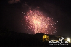 Fireworks On St. Mary\'s at Faqra 2012
