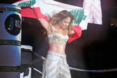 Jennifer Lopez In Dubai 2012 Wearing Lebanese Flag