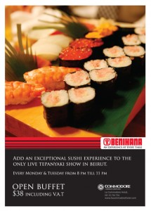 Open Sushi Buffet at Benihana